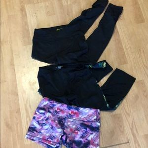 Pants - Lot 3 workout pants size small shorts and leggings